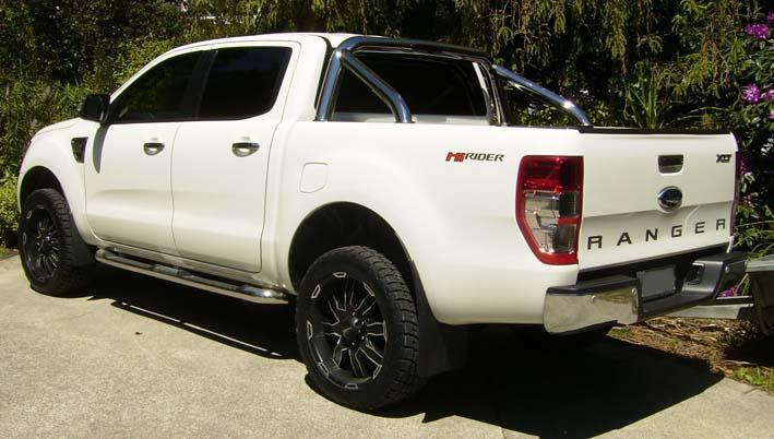 Ford Ranger White Vehicle Tinting Christchurch